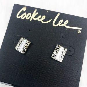 NWT! Cookie Lee Statement Stud Earrings.